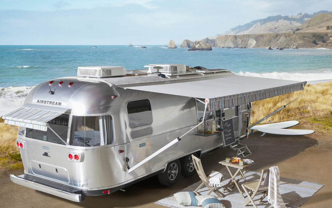 Unique Airstream Travel Trailer Features Pottery Barn Contributions