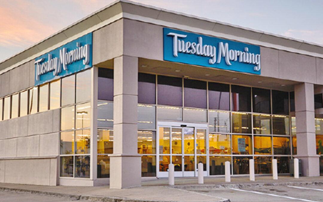 Tuesday Morning Posts 2021 Comp Gains, Names New Execs